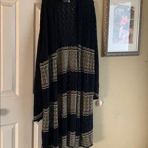 Sweaters - Size 3x Black and Tan kimono